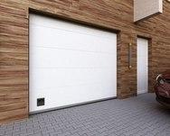 Ворота секционные серии RSD01SC №1 ширина 2500 высота 2115 волна, белые