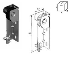 Кронштейн SPN0801 крепления двойного шкива Compact модифицированный в сборе