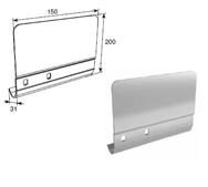 Соединительная пластина 200мм левая для вертикальных направляющих SPV-PT12L