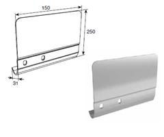 Соединительная пластина 250мм левая для вертикальных направляющих SPV-PT13L