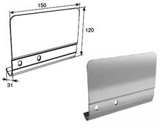 Соединительная пластина 120мм левая для вертикальных направляющих SPV-PT1L