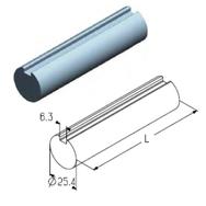 TSS-5000 вал полнотелый L=5000mm