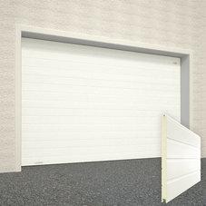 Ворота секционные серии RSD01SС №2 ширина 2500 высота 2215 доска, белые