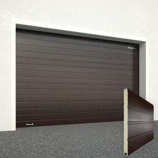 Ворота секционные серии RSD01SС №10 ширина 3000 высота 2640 доска, коричневые
