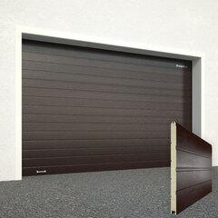 Ворота секционные серии RSD01SС №1 ширина 2500 высота 2115 доска, коричневые