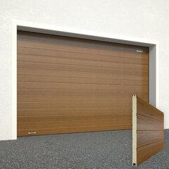 Ворота секционные серии RSD01SС №1 ширина 2500 высота 2115 доска, золотой дуб