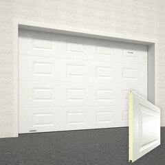 Ворота секционные серии RSD01SС №8 ширина 3000 высота 2215 доска, белые