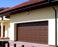 Ворота секционные серии RSD01SC №1 ширина 2500 высота 2115 филенка, коричневые
