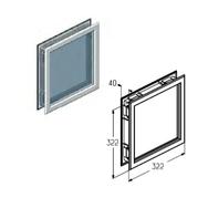 W050BR-40 окно коричневое