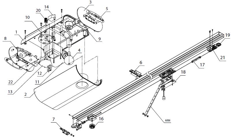 Автоматика для секционных ворот